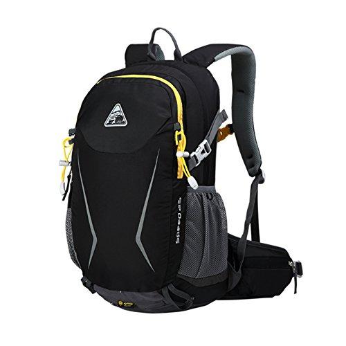 sac à bandoulière extérieur / sac multifonctions équitation / randonnée sport sac à dos / sac de Voyage de loisirs-noir 25L
