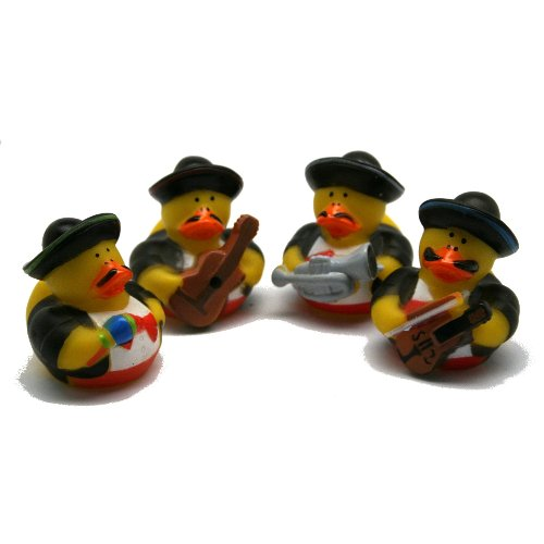 12 Vinyl Mariachi Band Rubber Ducks