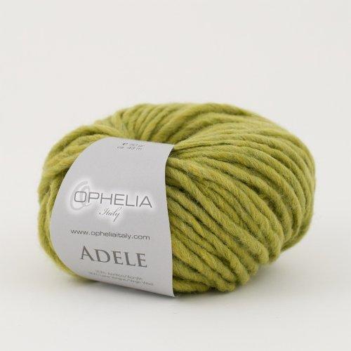 Ophelia Italy Adele - Gomitoli lana 50g filato stoppino 70% acrilico 30% lana vergine (015 Verde marcio)