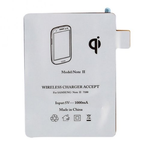Qi TY-02 Wireless Charger Receiver Pad For Samsung Galaxy Note 2 II (Receiver only)