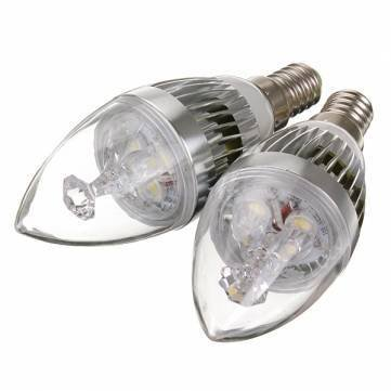 dimmable e12 9w blanc / blanc chaud 3 LED bougie or ampoule 220v