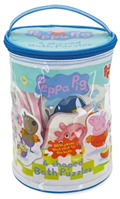 Peppa Pig 4 in 1 Shaped Bath Time Jigsaw Puzzles (2, 3, 3 and 4 Piece Jigsaw Puzzles)