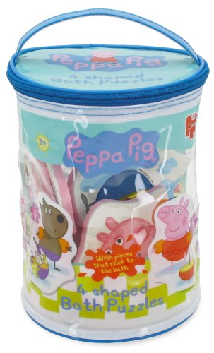4 In 1 Shaped Bath Time Jigsaw Puzzles (2, 3, 3 And 4 Piece Jigsaw Puzzles) By Peppa Pig