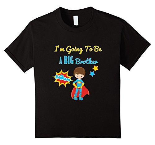 Kids Pregnancy Announcements Superhero T Shirts Big Brother  6 Black (I M A Super Hero Costume)