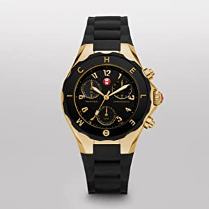 MICHELE Large Tahitian Jelly Bean Gold Plate Black