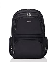 Platero Laptop Backpack with Hidden Compartment and Anti-thief Zipper (Black)