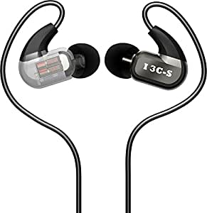 DUNU I 3C-S, Earphones with Ultra-Modern Studio Grade Balance Armature Hi-Fi Earbuds Headphones
