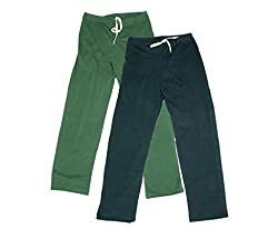 IndiWeaves Women Super Combo Pack 4 (Pack of 2 Lower/Track Pant and 2 T-Shirt)_Green::Gray::Red::Black _XL