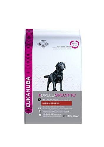 Artikelbild: Eukanuba Adult Breed Specific Trockenfutter für erwachsene Labrador Retriever (Spezial-Premiumfutter mit Huhn), 2,5 kg Beutel