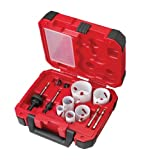 Milwaukee 49-22-4095 Electricians Ice Hardened Hole Saw Kit, ten-Piece