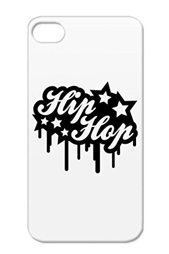 Hip Hop Love Music Beat Music Fresh Old School Headphones Gangster Real Bling Tpu For Iphone 4/4S Black Hip Hop Graffiti R1 Protective Hard Case
