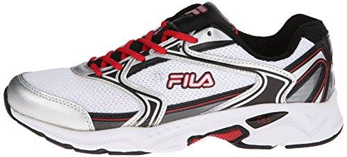 Fila Men's Xtent 2 Running Shoe, White/Black/Fila Red, 12 M US
