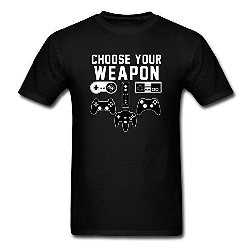 Choose-Your-Weapon-Gaming-Console-Gamer-Funny-DT-Adult-T-Shirt-Tee