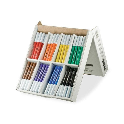 Dixon Prang Washable Classpack Markers - Ink Color: Blue, Black, Green, Orange, Purple, Yellow, Red, Brown - 96 / Pack