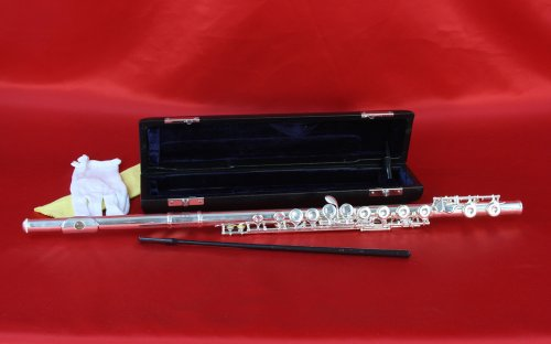 Conductor Sterling Silver Plated Flute w/ Case, 1 Year Warranty