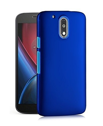 brand new 3138d 9e3b5 Chevron Moto G Play 4th gen (Motorola Moto G4 Play) Rubberised Matte Hard  Case Back Cover - Space Black