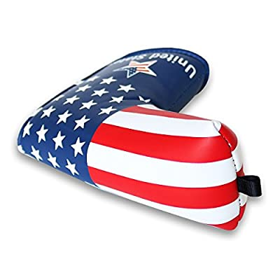 Craftsman Golf Stars and Stripes Golf Putter Club Head Cover Headcover for Scotty Cameron Odyssey Blade Callaway Taylormade Titleist Ping Mizuno