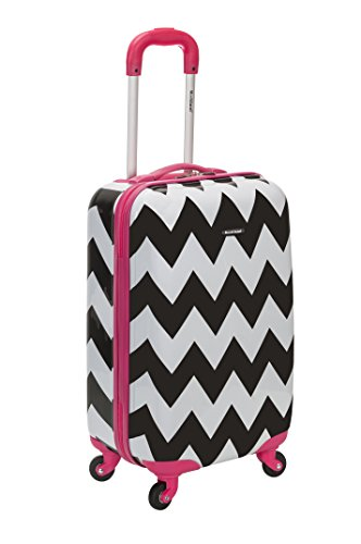Rockland 20 Inch Carry On Skin, Pink Chevron, One Size