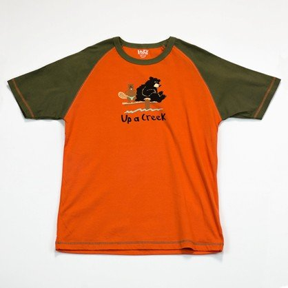 Up a Rill Bear Beaver Canoe LazyOne Unisex Tee Cotton Knit lazy unisex top: M chest 38-40
