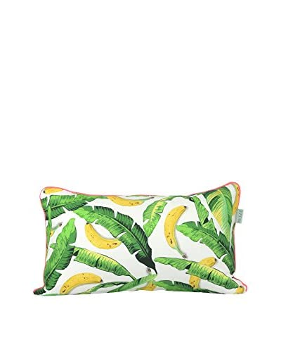 HF LIVING Funda De Cojín Banana C Blanco / Verde