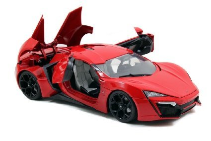 Jada 1/18 Scale Fast & Furious 7 Lykan Hypersport Red Diecast Car Model 97388 (Car Models compare prices)