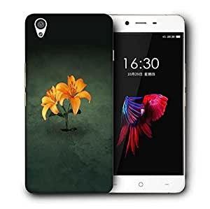 Snoogg Simple Flower Printed Protective Phone Back Case Cover For OnePlus X / 1+X