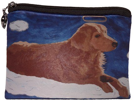 Dog Change Purse, Dog Coin Purse, Angel Dog, - From My Original Painting, Ginger