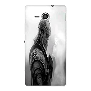 Ajay Enterprises Deathly Soldier Back Case Cover for Sony Xperia SP
