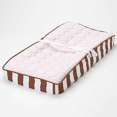 Quilted Circles Pink/Choc Changing Pad Cover