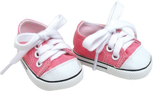 Doll Clothing for 18 Inch Doll Pink Shoes Made by Sophia's Doll Items fit for American Girl Doll & Clothes! Pink Doll Sneaker Accessory - 1