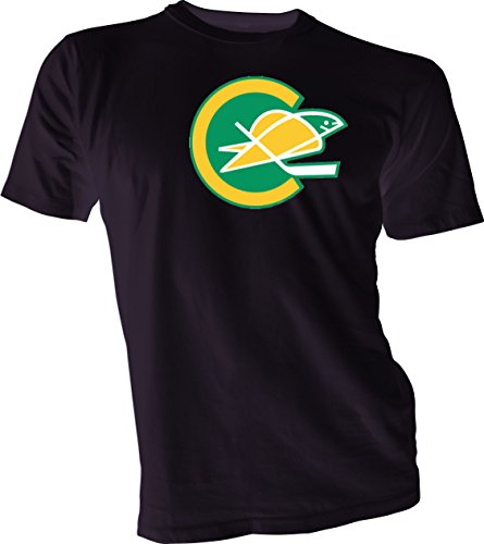 New Hockey Men Tee T Shirt Black Size Large Defunct NHL KHL Wild California Golden Seals Vintage and Retro Look Clothing or Apparel (California Golden Seals Jersey compare prices)