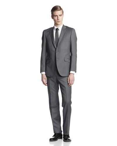 English Laundry Men's Slim Fit Pinstripe Suit
