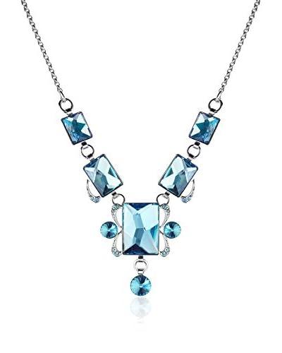 Bohemian Love Story Collar Mirror Necklace Azul 38 cm