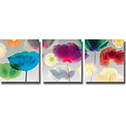 Artistic Home Gallery 1818545S Poppy Panorama By Robert Mertens 3 Piece Premium Stretched Canvas Wall Art