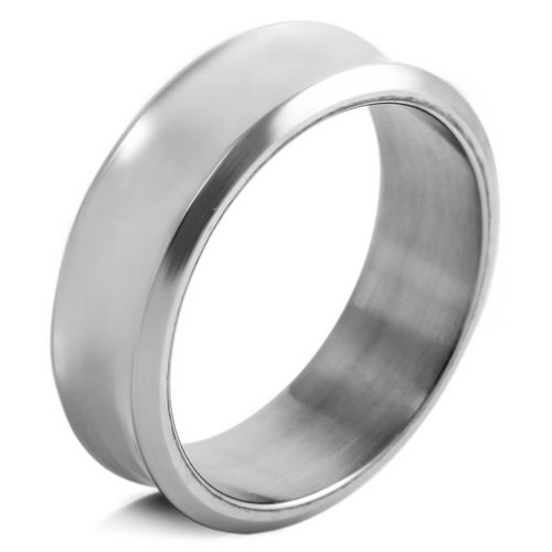 MENS Silver Stainless Steel Rings Wedding Band Size 8