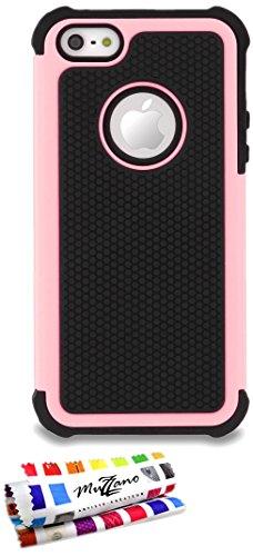 Ultraflache halbstarre Schutzhülle APPLE IPHONE 5S / IPHONE SE [Rosa] von MUZZANO + STIFT und MICROFASERTUCH MUZZANO® GRATIS - Das ULTIMATIVE, ELEGANTE UND LANGLEBIGE Schutz-Case für Ihr APPLE IPHONE 5S / IPHONE SE