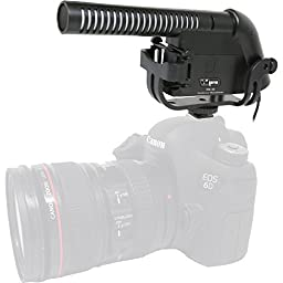 XM-40 Condenser Shotgun Video Microphone with Fuzzy Windbuster For Nikon D300, D300s, D500, D3200, D3300, D600, D610, D700, D750, D800, D800e, D810, D810A, D5100, D5200, D5300, D5500, D7000, D7100, D7200 Digital SLR Camera