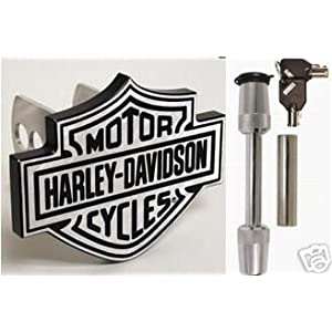 - 	 Harley Davidson Bar &#038; Shield Hitch Plug Cover &#038; Hitch Lock
