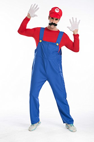 Sign mario brothers Mario and Luigi RPG Halloween dress suit overalls plumber