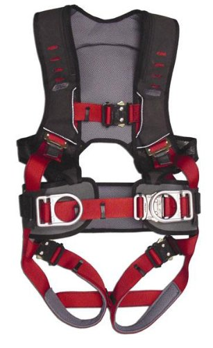 Guardian Fall Protection 193151 Construction Premium Edge Harness With Quick Connect Chest Buckle, Waist Tounge Buckle And Leg Tounge Buckles, M-Xlarge