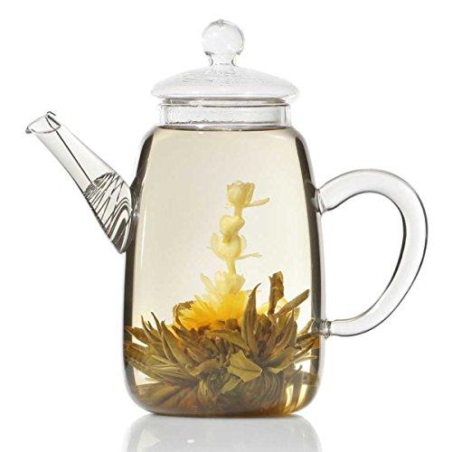 Teekanne aus Glas mit Teefilter klassische Tee-Filter Kanne 600ml von Dimono