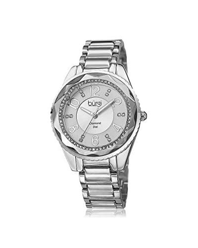 Burgi Women's BUR132SS Rose-Tone/Silver Alloy Watch