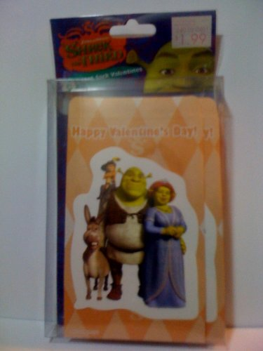 Shrek The Third 24 Treat Sack Valentines (treats not included)