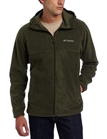 Columbia Men's Steens Mountain Hoodie Fleece Jacket, Surplus Green, Small
