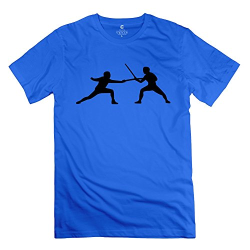 fencing-100-cotton-mans-tshirt-royalblue-size-s-new-arrival-by-rahk