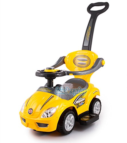 RUTSCHAUTO HUPE Lauflernwagen Fahrzeug Farbwahl Kinderfahrzeug NEU 3 Farbe (KP3523Gelb)