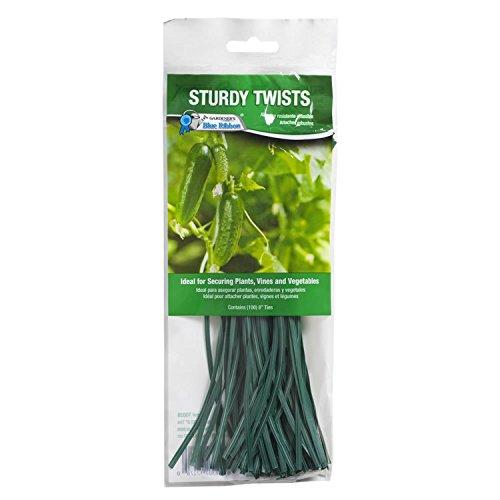 Gardener's Blue Ribbon T002B Pre-Cut Sturdy Twist Ties (100 Pack), 8