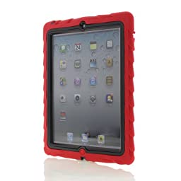 Gumdrop Cases Custom Frame Protective Case for iPad 2/3/4 - Red/Black (CUST-DTPD3-RED_FRM-PD3-BLK)