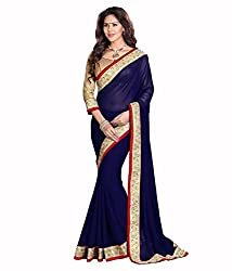 My online Shoppy Georgette Saree (My online Shoppy_68_Navy Blue)