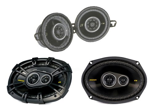 "2) Kicker Cs354 3.5"" 90W 2 Way+ 2) 40Cs6934 6X9"" 450W 3 Way Car Coaxial Speakers"